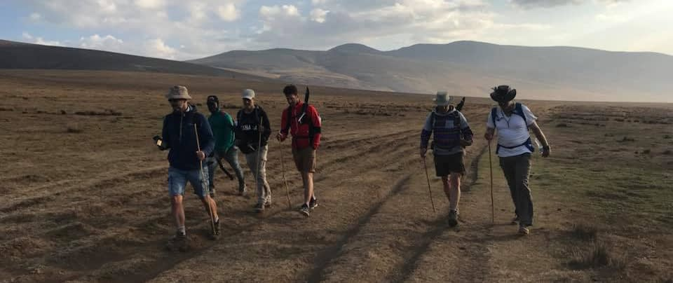 hiking Ngorongoro
